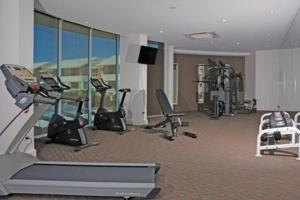 The fitness center and/or fitness facilities at Chancellor Executive Apartments