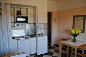 A kitchen or kitchenette at Residence Hotel Siloe