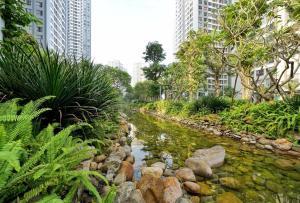 Vườn quanh La Perle Rose Luxury Apartment