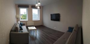 Телевизор и/или развлекательный центр в Apartment on Mosina 10