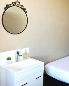 A bathroom at Centennial Inn on Bathurst