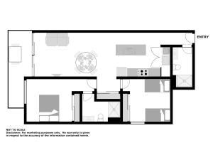 The floor plan of The Shoal Apartments, Unit 304/4-8 Bullecourt Street