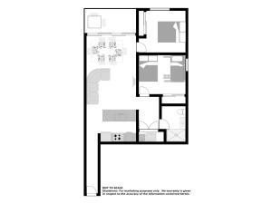The floor plan of The Shoal Apartments, Unit 305/4-8 Bullecourt Street