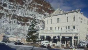 Historic Western Hotel during the winter