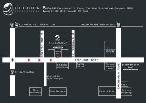 The floor plan of The Cocoon Hostel