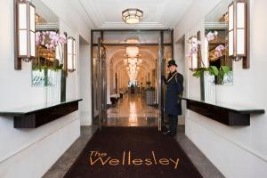 The lobby or reception area at The Wellesley Knightsbridge, a Luxury Collection Hotel, London