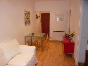 Coin salon dans l'établissement Apartament Conde Güell