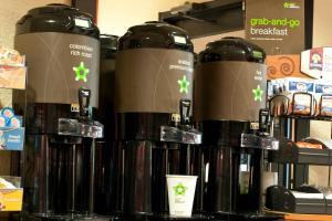 Coffee and tea-making facilities at Extended Stay America - Long Island - Melville