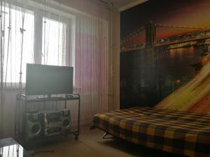 Телевизор и/или развлекательный центр в Apartment in Center on Trilissera