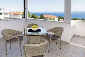 Balkón nebo terasa v ubytování Apartments Mel