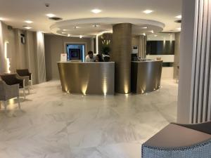 The lobby or reception area at Hotel Villa Paola