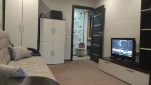 Телевизор и/или развлекательный центр в Apartment on Krasnoarmeyskaya