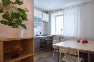 Кухня или мини-кухня в Apartment na Zhilina