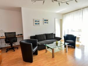 Ein Sitzbereich in der Unterkunft Ferienwohnung Schliestädt-Görge