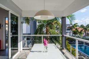Uma varanda ou terraço em Beluga Apartments