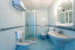 Koupelna v ubytování Hotel Minerva