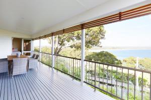 A balcony or terrace at Bay Beach House