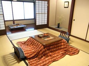 A seating area at Fujiya