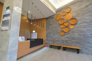 The lobby or reception area at KET Hotel