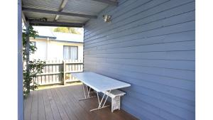 A balcony or terrace at MY FAIR LADY - EXTERNAL BATHROOM - PET FRIENDLY OUTSIDE ONLY