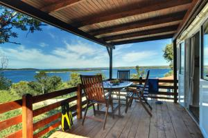 A balcony or terrace at Brioni Sunny Camping by Valamar