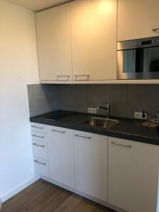 A kitchen or kitchenette at appartementen Valkenburg / Den Driesch