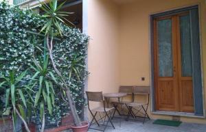 "A porch or other outdoor area at Appartamento ""La Piccola"""