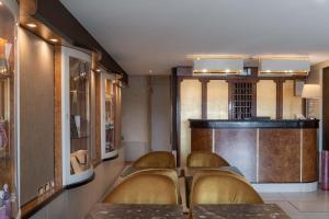 O saguão ou recepção de Hotel Paganelli