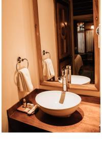 Salle de bains dans l'établissement Hotel Diego de Mazariegos