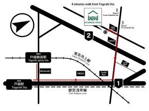 The floor plan of No Borders Hostel
