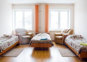 A bed or beds in a room at Baikal Gavan