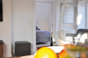 Ein Bett oder Betten in einem Zimmer der Unterkunft Rackmers-Hof Hotel garni