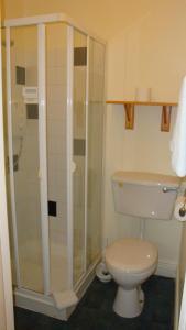 A bathroom at The Blue Door Bed & Breakfast