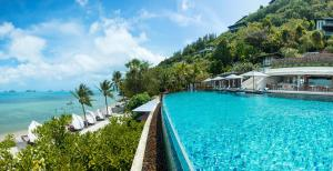 The swimming pool at or close to Conrad Koh Samui