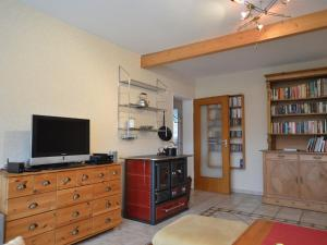 A television and/or entertainment centre at Cozy Apartment with Private Swimming Pool in Wuppertal
