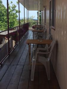 A balcony or terrace at Дом семейного отдыха