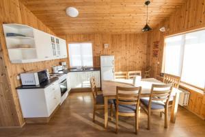 Eldhús eða eldhúskrókur á Gladheimar Cottages