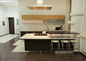 A kitchen or kitchenette at Ekaterina II Hotel