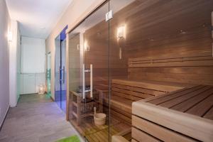Een badkamer bij Hotel Vischi