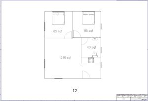 The floor plan of Island Life Cottages