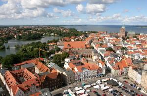 A bird's-eye view of Altstadt Hotel zur Post Stralsund