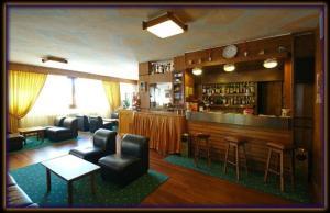 El salón o zona de bar de Hotel Des Alpes