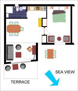 The floor plan of MaraMare Apartments