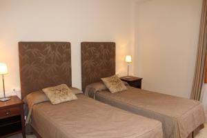 Un pat sau paturi într-o cameră la Apartaments St. Jordi Comtal