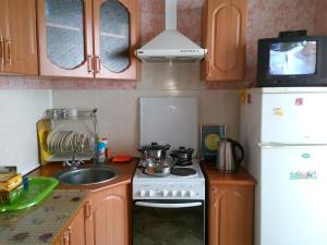 A kitchen or kitchenette at Apartment in Gribanowski