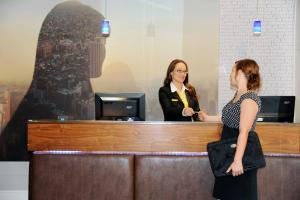 The lobby or reception area at Staycity Aparthotels Birmingham City Centre Arcadian