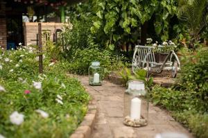 A garden outside Piroska Vendégház