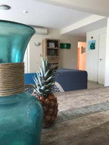 O saguão ou recepção de Palapa Beach Resort Curacao