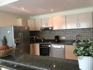 A cozinha ou cozinha compacta de Palapa Beach Resort Curacao