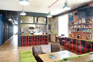 Cuisine ou kitchenette dans l'établissement Rolling Stones hostel